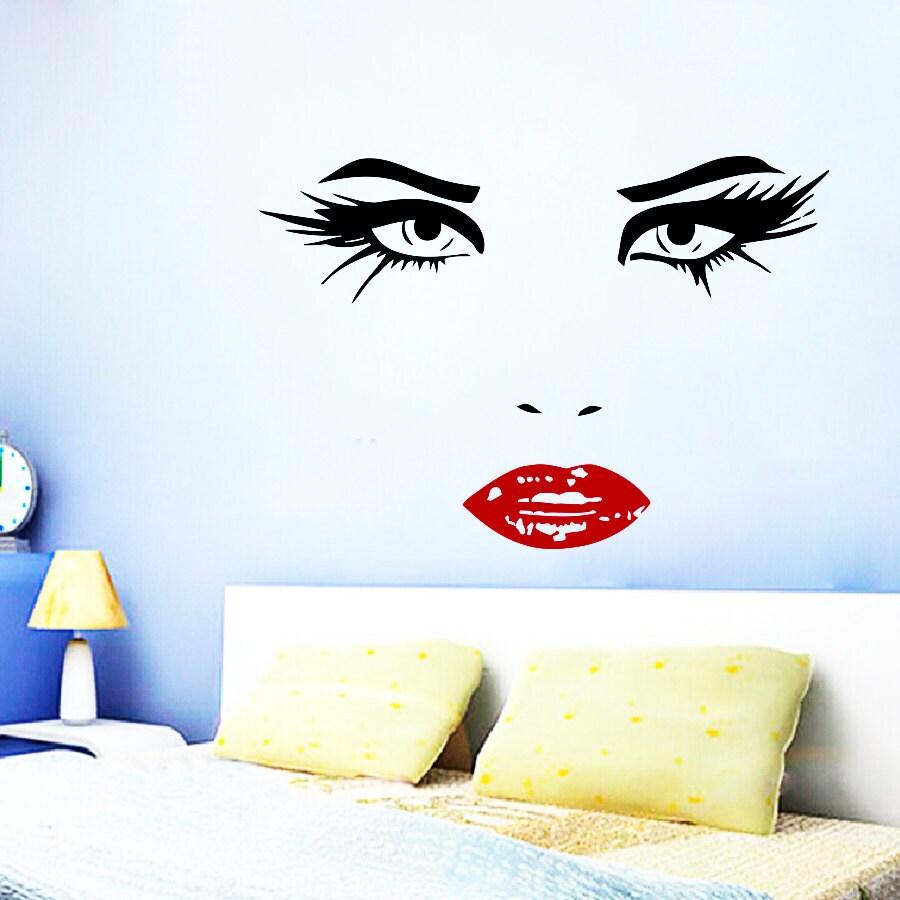 Wand Aufkleber Friseur Haar Beauty Salon Aufkleber Vinyl