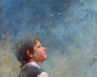 Wonder, oil on canvas, figurative art direct from artist