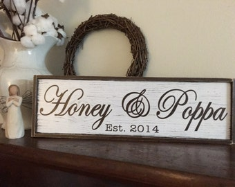Grandparents signs, Wall Hangings, Wall Decor, with quote