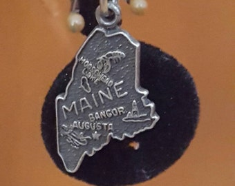 Sterling silver Maine charm / pendent