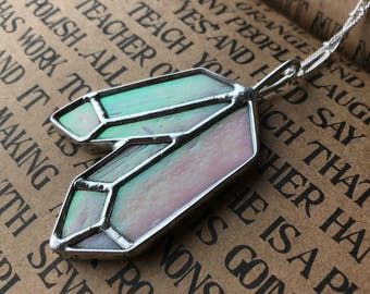 Crystal Necklace // Stained Glass Jewelry // Crystal Jewelry // Love and Light Pendant // Healing Crystal Necklace