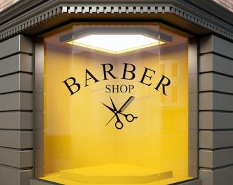 Barber Shop Window Sticker Haircuts Hairdressing Display Vinyl Barbershop Decal