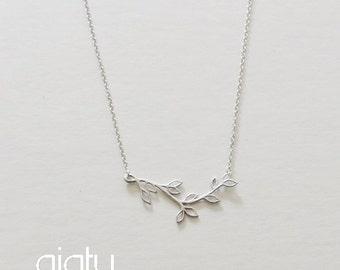 Silver Multi Branch Bridesmaid Necklace, Branch Necklace, Wedding Necklace, Simple Necklace, Bridesmaid Necklace, Bridesmaid Gift,