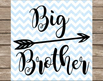 Big brother SVG, Svg File for cricut, Brother SVG, svg, Cricut svg, Silhouette svg, Vinyl Big Brother svg cut file brother Cricut siblings
