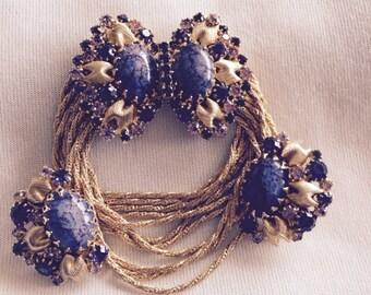 Gorgeous Vintage Sparkling Crystal Bracelet and Earring Set