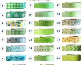 Washi Tape - GREEN Collection