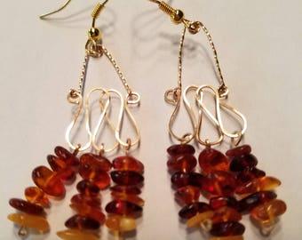 Amber Chandelier Earrings