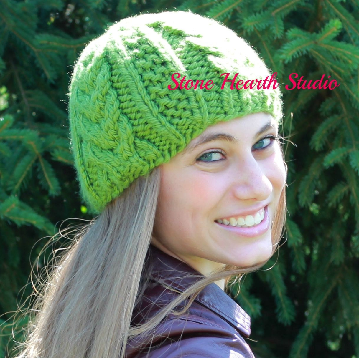 BROOKLYN BEANIE,Knit Hat Pattern,Thick Cabled,Urban,Chic,Winter Hat ...