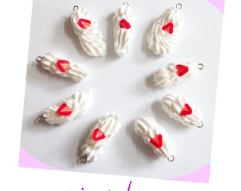 whipped cream and strawberry set of 9 (creator) charm