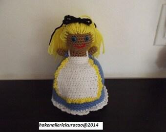 Haak patroon Alice in wonderland - mijnheer konijn / Alice in wonderland – White Rabbit, topsy turvy doll