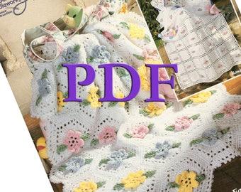 PDF - Crochet Huggy Snuggy Baby Afghans, 1995, 6 designs