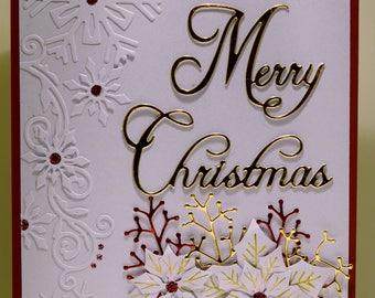 Merry Christmas Snowflakes/Poinsettia