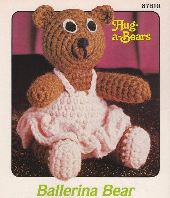 Bailarina de osos de abrazo oso Attic Crochet oso de peluche