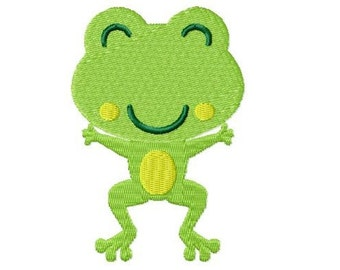 Embroidery Design Little Frog 1 4'x4' - DIGITAL DOWNLOAD PRODUCT