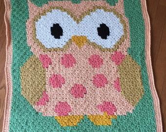 "Owl Blanket 36"" x 45"""