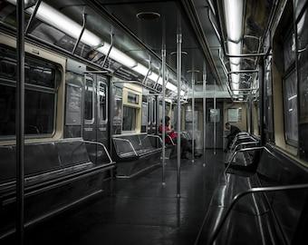 M Train R42 waiting at Myrtle-Wyckoff Avs Subway Station - Brooklyn/New York City (Wall Art Prints)
