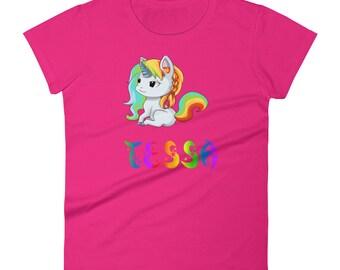 Tessa Unicorn Ladies T-Shirt