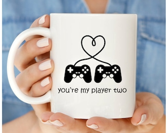 Gamer Coffee Mug, You're My Player Two, Video Gamer Mug, Coffee Mug For Gamer, Funny Gamer Gifts, Gamer Gifts, Gifts For Gamers, Gamer Gift