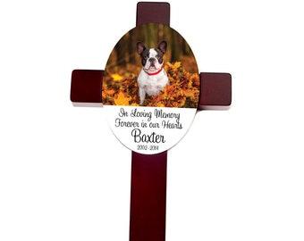 Pet Memorial Cross - Custom Dog Memorial Gift  - Pet Memorial Personalized Cross