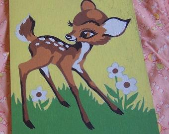 little bambi wall hanging