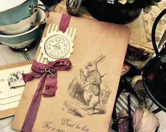 Alice in wonderland/ Mad hatter wedding invitations
