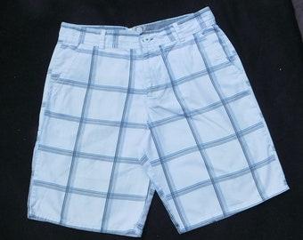 men's summer shorts -Vintage Levi shorts men - plaid shorts men , men's plaid summer shorts, men's  preppy shorts, size 36 shorts men , # 14