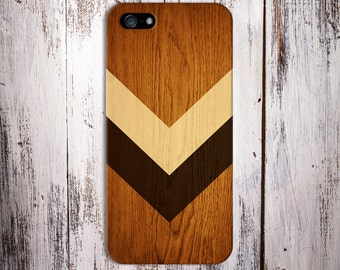 Geometric Light Brown Stained Wood x Chevron Case for iPhone 8 6 Plus iPhone X  Samsung Galaxy s9 edge s6 and Note 8  S8 Plus Phone Case