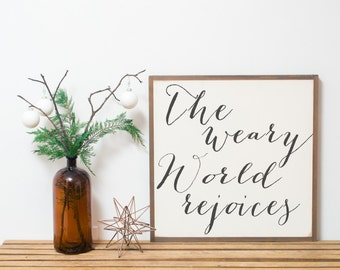 Weary World Rejoices White 2x2