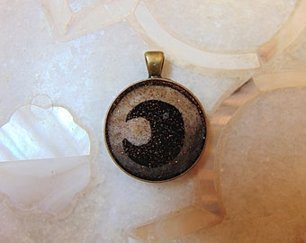 Moon resin pendant