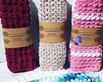 Washcloths / Dishcloths, Handmade, Set of 2