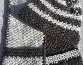 """Hot Chocolate and Vanilla Swirl, Hat and Scarf combo pattern  """" Crochet Pattern Pdf"""""""