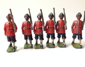 Vintage Britains Toy Soldiers Set 67  Madras Native Infantry