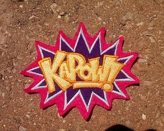 Kapow Patch,comic,super hero