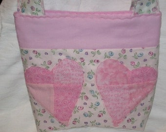 Tilted Hearts Tote Bag Purse Digital Pattern by Sew Practical, Mom and Pop Craft