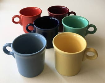 Iconic Fiestaware mugs in many colors tom and jerry handle sold individually