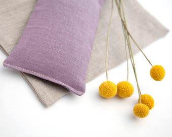 Spa Gift - Linen Eye Pillow - Gift for mom - Lavender Eyepillow - Organic flax pillow - Yoga Prop - Aromatherapy - Sleep Aid - Purple