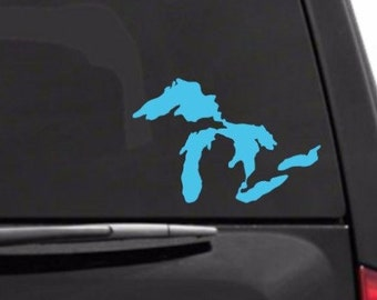 Great Lakes Decal | Michigan Great Lakes | Great Lakes Decal Sticker | Michigan Vinyl Decal | Made in Michigan