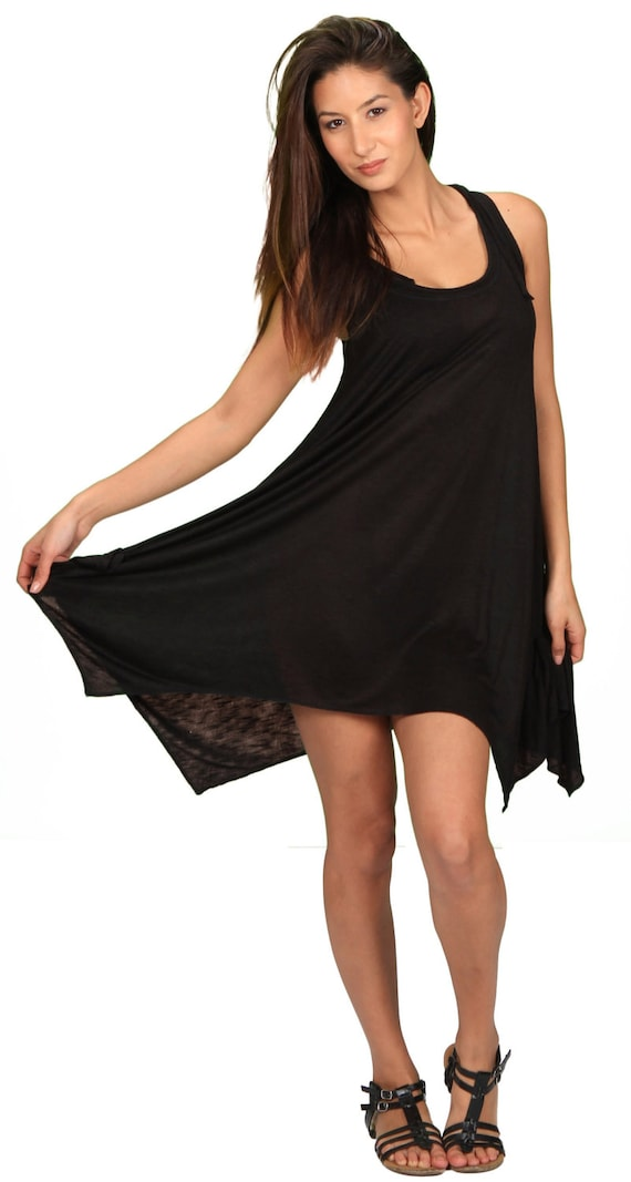 Pixie Hoodie Sleeveless Dress in Black for Womens Fashion  Boho Chic Festival Wear Wholesale