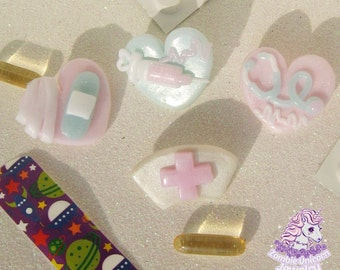 Beary Cute Hospital pins brooches menhera fairy kei