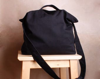 Tote bag, ECO Bag, Cotton Bag, Bag for School, Bag for books, Bag for grocery,Simple black Bag, messenger bag