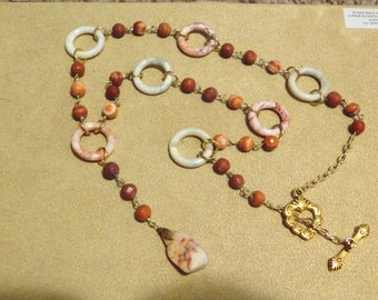 Redline Marble & Red Onyx Necklace