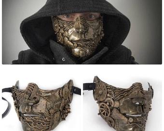steampunk  techno post apocalyptic masquerade mask