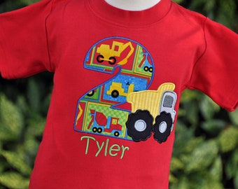 Personalized Dump Truck Birthday Shirt - Construction Birthday Shirt - Construction Party - Dump Truck Party - Boys Birthday Shirt - Truck