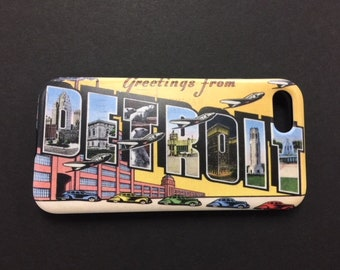 Greetings from Detroit iPhone Case