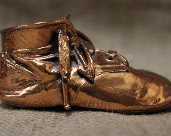 Vintage Bronzed Copper Baby Shoe