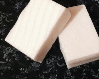 Goats Milk Soap, Coconut Rose, Dye Free Soaps, Made to Order, Rectangle Bar of Soap, Soap with Ridges