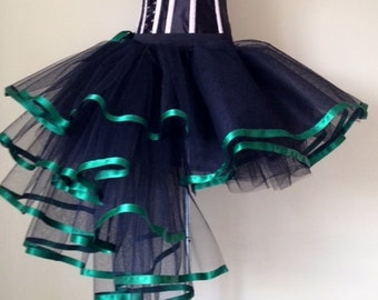 Black Green Burlesque Bustle Tutu Skirt U.S. 4 -10 U.K.6 -12