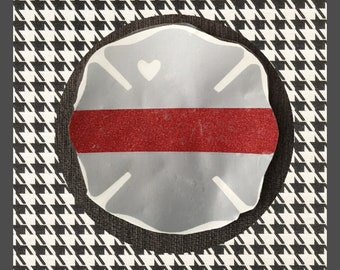 Sheild decal with heart