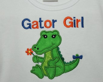 Florida, Florida Gators, Gators, orange, blue, girl clothes, t shirt, t-shirt, tshirt, girl tshirt, football, shirt, personalizd,  alligator