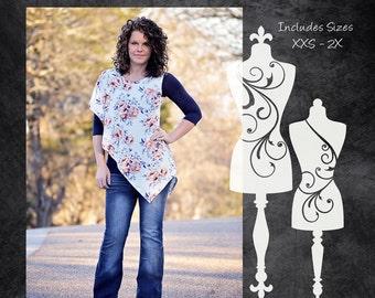 The Illusion Tunic (Women's Sizes) PDF Sewing Pattern